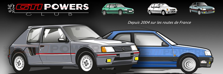 Club GTIPOWERS - Vivez les 205 et 309 GTI en communauté !