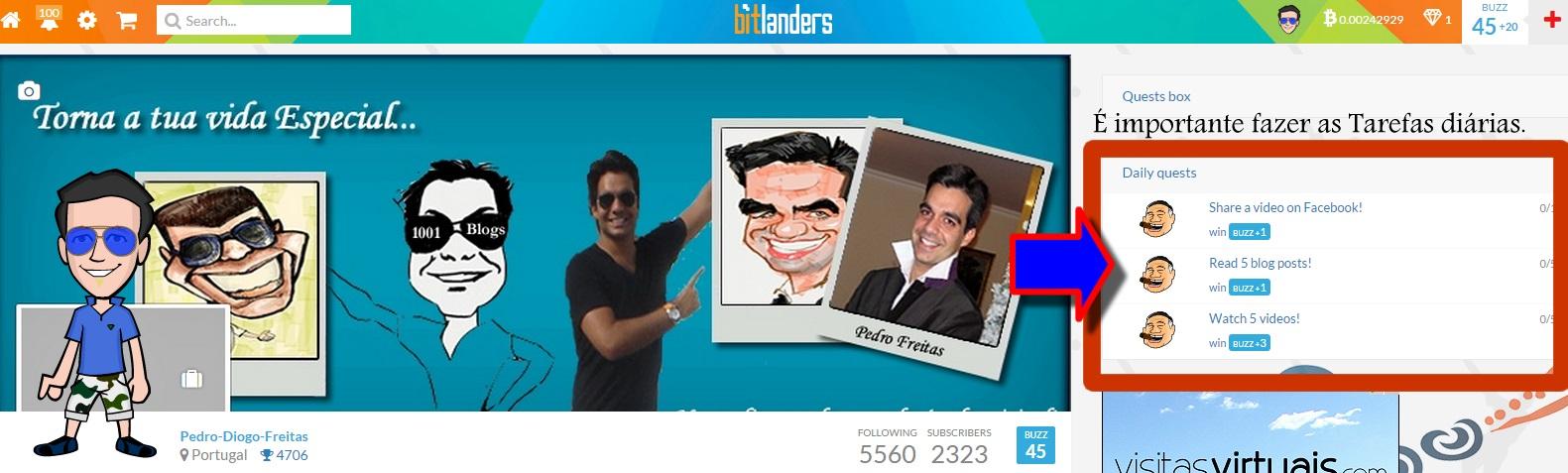 bitlanders - Bitlanders - Uma Rede Social que te paga em Bitcoin, Paypal! [ Recebi 3 x 10 Dolars] 18067567_MsEUI