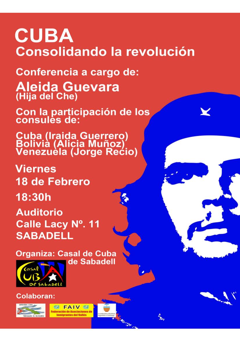 Conferencia de Aleida Guevara en Sabadell el 18 de febrero, Conferencia