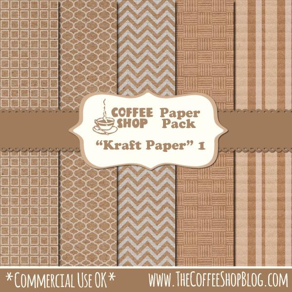 "CoffeeShop ""Kraft Paper"" 1 set CoffeeShop%2BKraft%2BPaper%2B1%2Bad"
