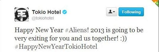 @tokiohotel desejando um Feliz Ano Novo!  6