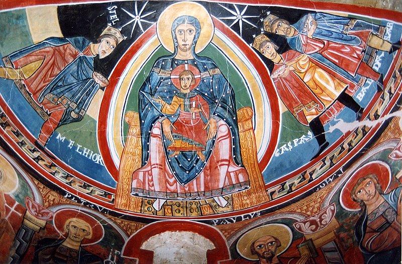 13b. Arte Románico en España Santa_maria_tahull_abside