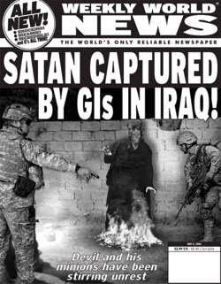 Des signaux radio du centre de la Terre reçus par la NASA… Terre creuse photographiée… Weekly-world-news-satan-captured-in-iraq