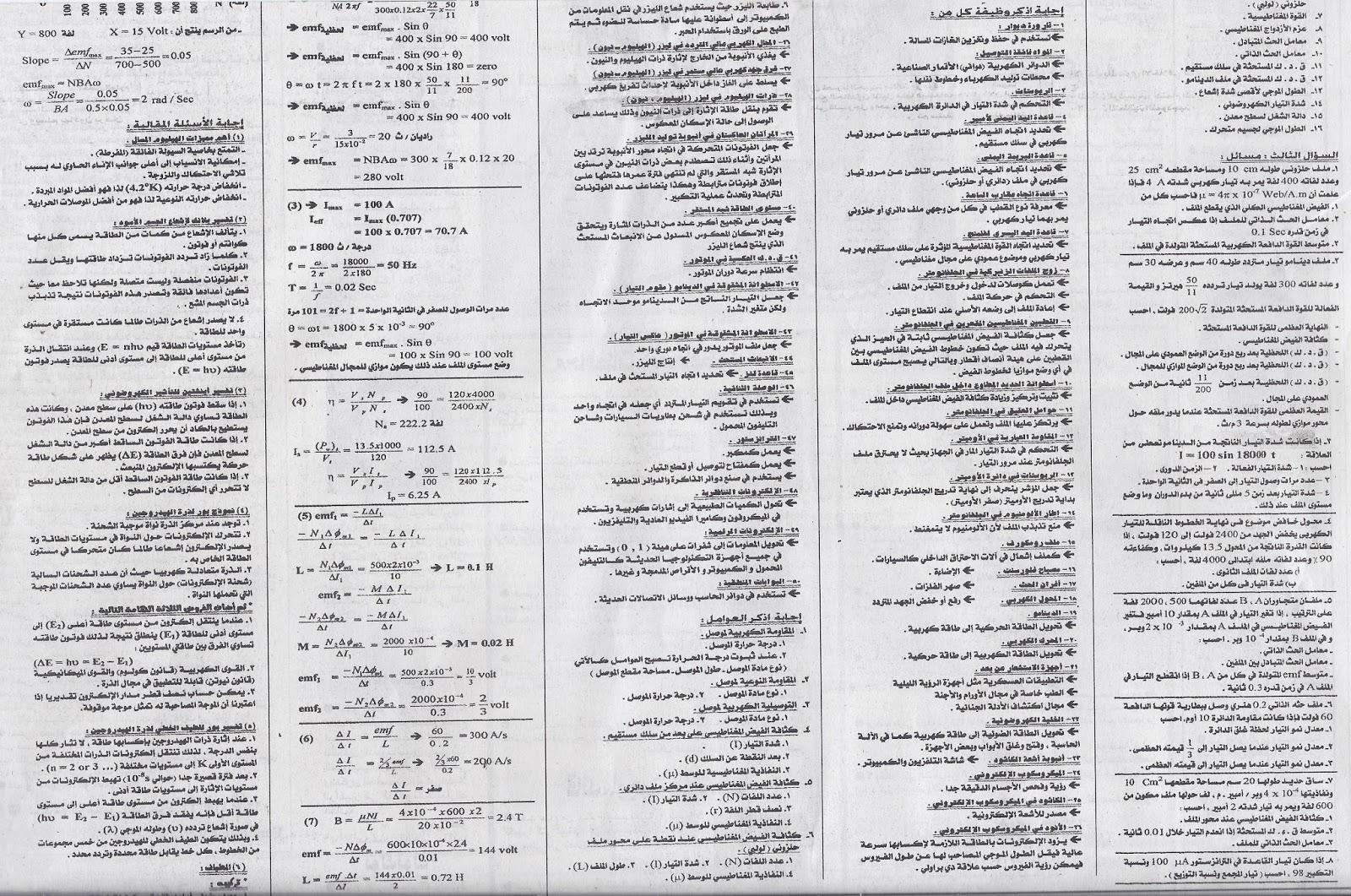 نشر ثاني مراجعة فيزياء من اقوي اربع مراجعات ينشرها ملحق الجمهورية لامتحان لثانوية العامة 2015 نظام حديث Www.modars1.com_112