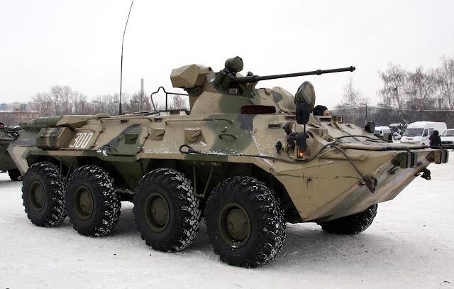 مدرعات BTR-82A الروسيه ودورها في الحرب الاهليه السوريه  BTR-80A_%25283%2529