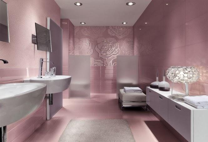 حمامات مجموعة تصميمات جذابة جداً  Floral-metallic-bathroom-mosaic-tiles-665x456