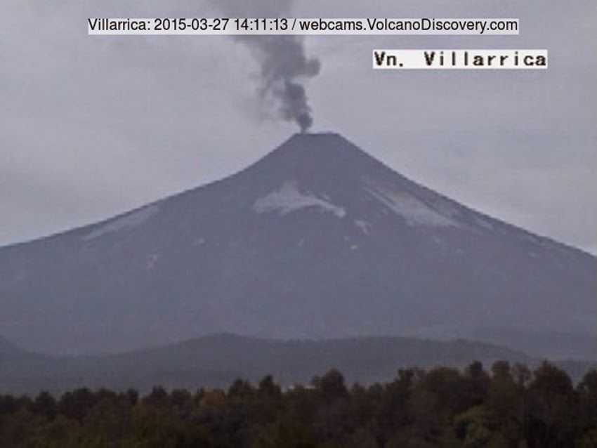 GLOBAL VOLCANISM: The Latest Report Of Volcanic Eruptions, Activity, Unrest And Awakenings – March 28, 2015! Villarrica