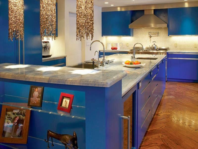 الأزرق في الأثاث وإكسسوارات المنزل 30