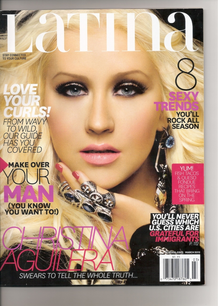 [Fotos+Video] Christina Aguilera en la portada de la revista Latina 2012 10