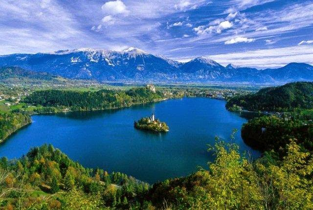 The Natural Physics of Water Prove Earth Flat Slovenia_natural_attractions_lakes_bled