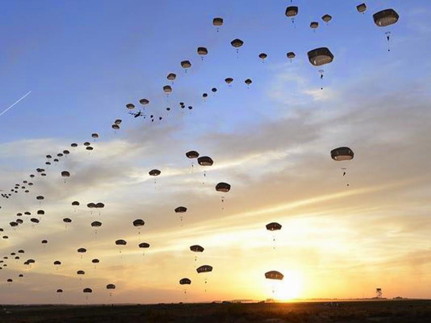 Major airborne operation in North Carolina involving U.S. 82nd Airborne Division and the United Kingdom's 16 Assault Brigade Usa_uk_airborne_operation