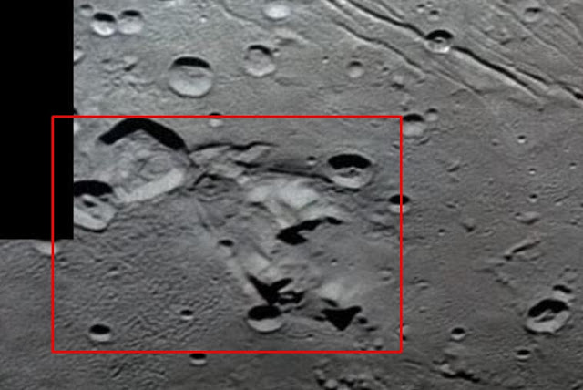 Space Shuttle-like Craft and Buildings on Pluto's largest moon Charon?  Pluto%2Bcharon%2B%25282%2529