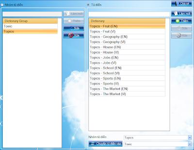 Phần mềm học từ vựng English ToolTip.... UcDictionary