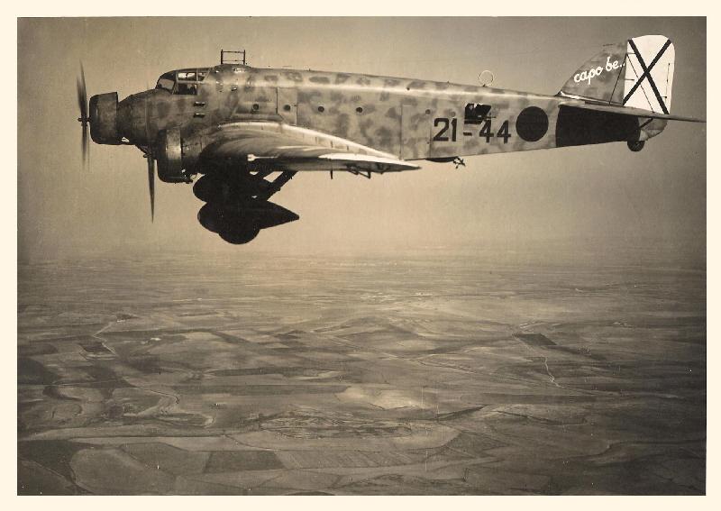 la légion condor et aviation italienne RINO%2BZITELLI%2BSM-81A%2B21-44%2BCAPO%2BBE