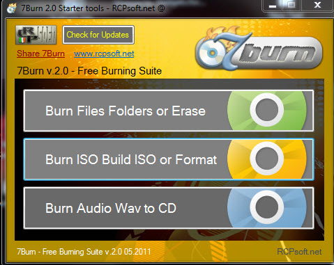 "7Burn Burning Studio 2.0 - ""κάψετε"" τα αρχεία σας 7Burn"