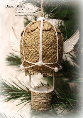 Елочное украшение - Воздушный шар от Аниты Носовой  9