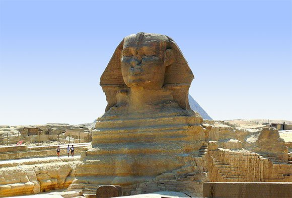 Sphinx is much older than the Pyramids!  Sphinx_icn