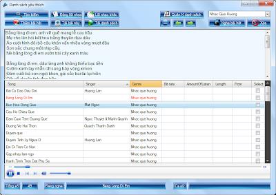 GetMusic phần mềm nghe nhạc và xem video trực tuyến từ Zing, NhacCuaTui, YouTube...! FavouriteList