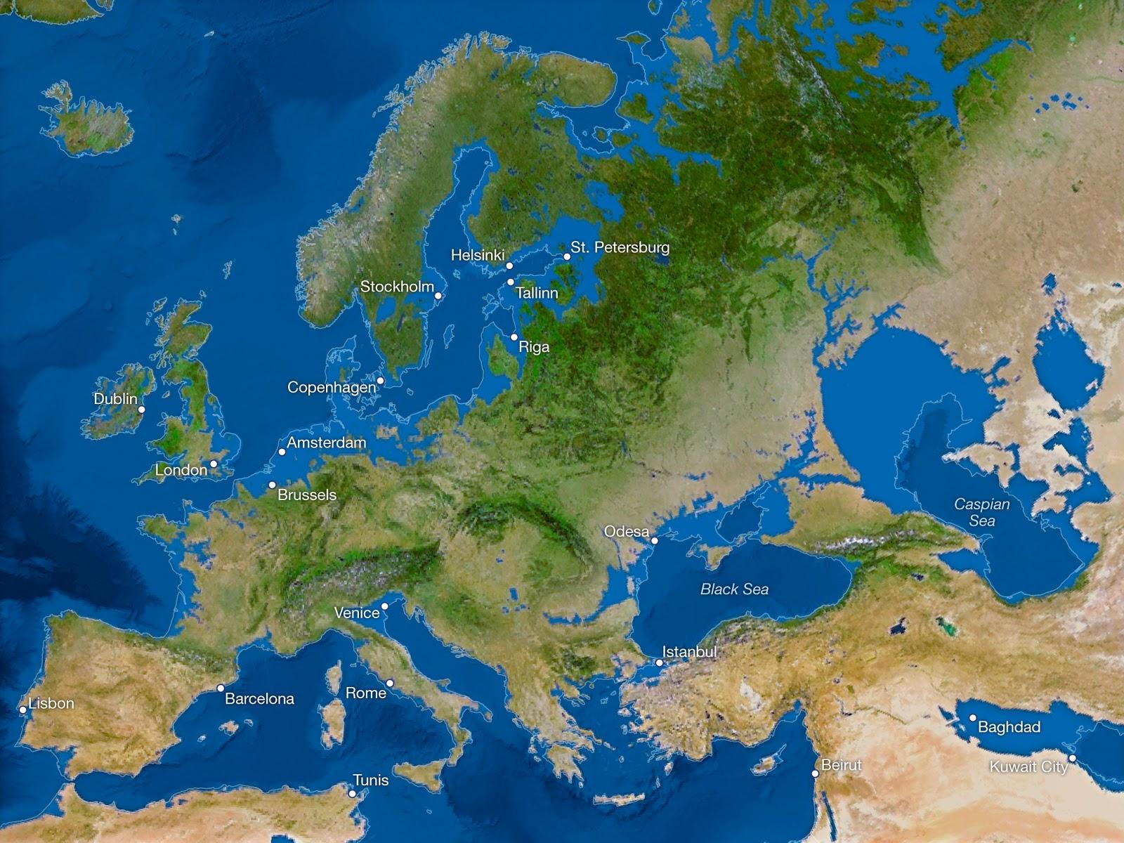 ¿Cómo sería la Tierra si todo el hielo se derritiera? Europa-sin-hielo