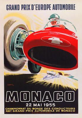 HISTORIA DEL GP DE MONACO - MONTE CARLO LLEGA A LOS 70 GPs Monaco-poster-1955