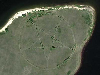 Scientist Explains the Kazakhstan Pentagram Found on Google Earth  Google-earth-pentagram-shape