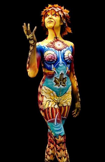 Bienvenidos al nuevo foro de apoyo a Noe #246 / 18.04.15 ~ 21.04.15 - Página 39 Body-painting-art-nude