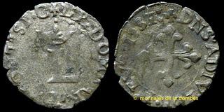 1 Liard del principado de Dombes (Francia). 1581 D-021-049_MBA-c