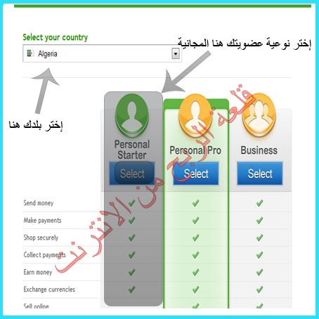 شرح التسجيل في بنك payza بالصورة +تفعيل الحساب 2