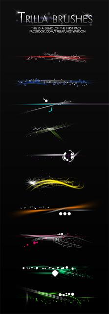 فرش فوتوشوب فواصل ضوئية المجموعة الاولى Trilla Brush Pack 1 Arab-Design