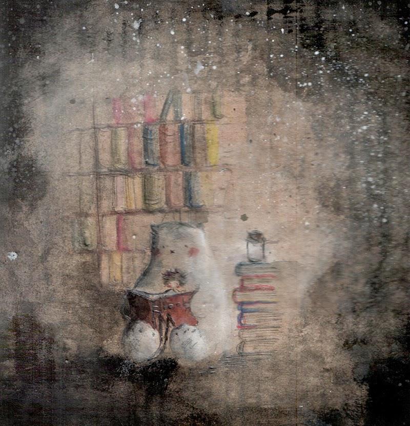 Viktor Peljevin  In_the_library__hoppipoppi_by_childrensillustrator