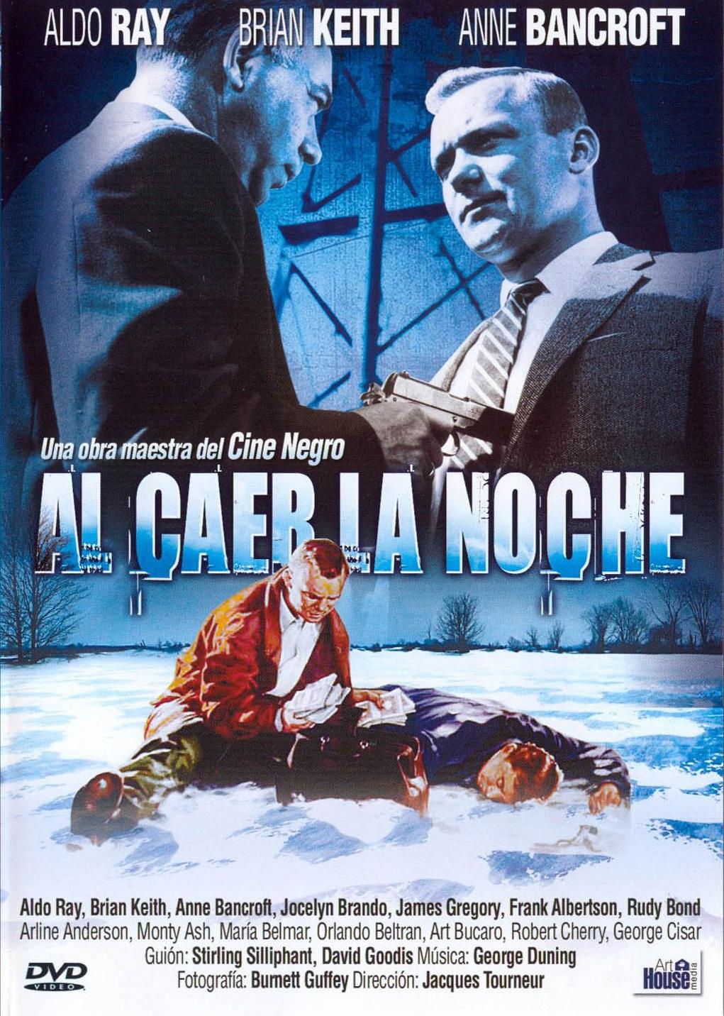 LAS MEJORES PELÍCULAS DE CINE NEGRO SEGÚN POPUHEADS - Página 6 Al_Caer_La_Noche_(1957)-Caratula