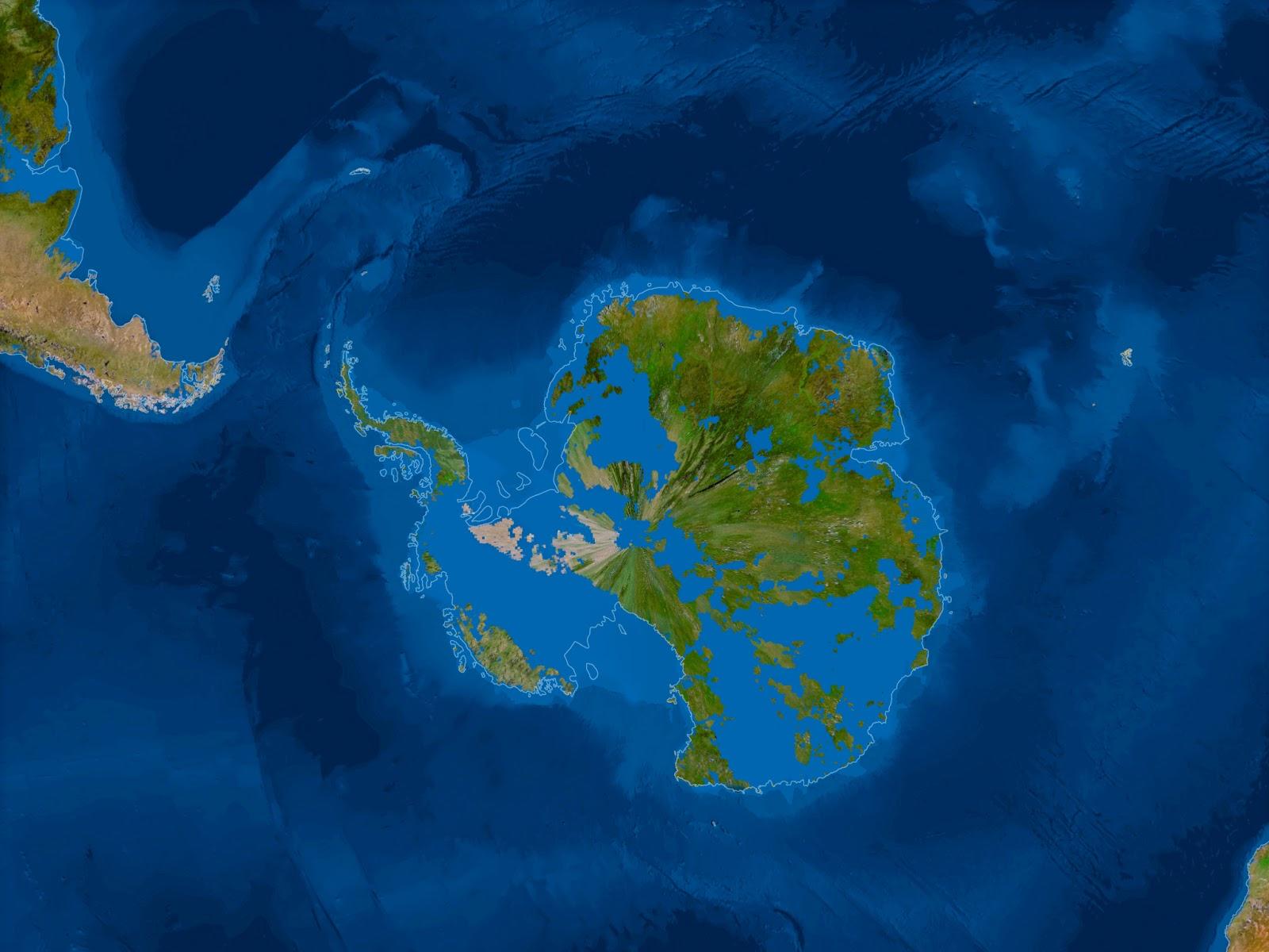 ¿Cómo sería la Tierra si todo el hielo se derritiera? Antartica-sin-hielo
