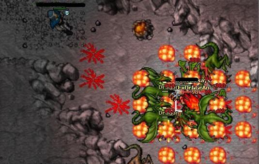 Tibia, un MMORPG en 2D Dragon-tibia