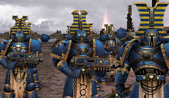 [W40K] Collection d'images : Space Marines du Chaos - Page 2 Thousand_Sons_Rubric_Marines_by_MitGas