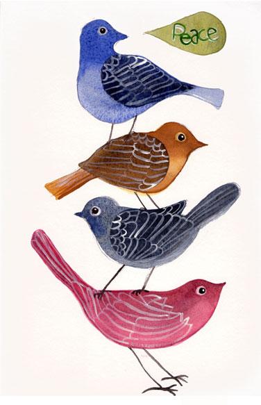 Acquerello, ho copiato gli uccelli di Geninne's Art Birds_jennins_copy_watercolor