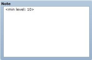 Equipement avec un niv minimum requis   Minlvequip02