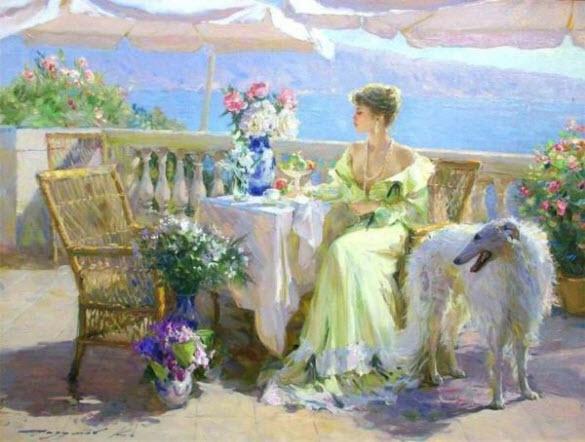 Konstantin Razumov  Beautiful-Charming-Paintings-Konstantin-Razumov-Russia-10