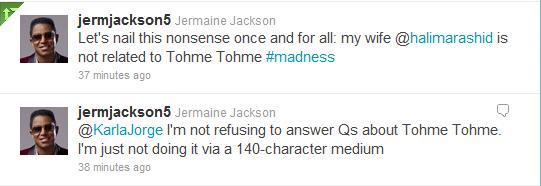 Halima denied being niece Tohme Tweet10