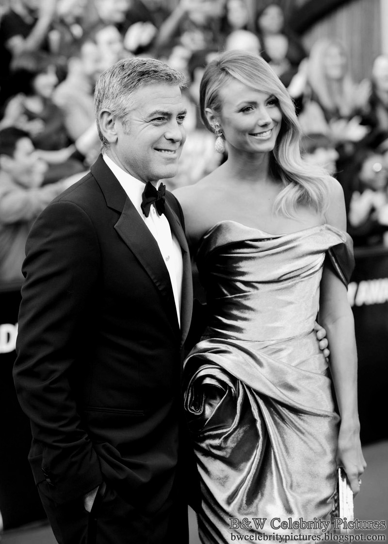 Black and White Pictures!!! George-clooney-stacy-keibler-2012-oscars