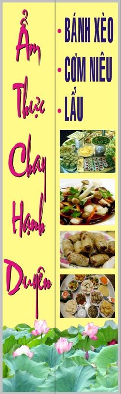 Nhà hàng Ẩm thực chay Hạnh Duyên -1000.com Giảm giá 30% nhân dịp Khai trương !!! HCMC Amthucchay