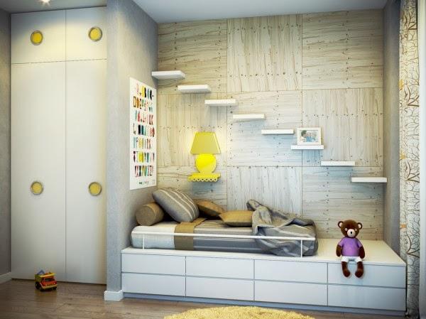 غرف نوم أطفال بألوان وتصميمات جميلة 17-yellow-white-kids-room-600x449