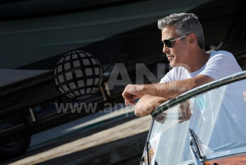 George Clooney arrives in Venice 24414927
