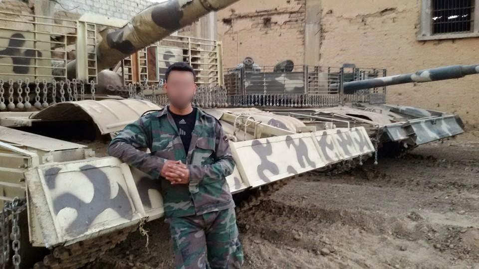 الوحش الفولاذي لدى قوات الجيش السوري .......الدبابه T-72  G343