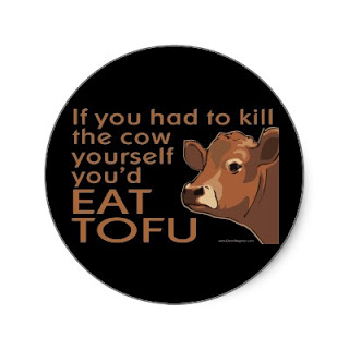 Stop Eating Your Friends! (Go Vegan)  Kill_the_cow_vegan_vegetarian_sticker-p217368851279183229qjcl_400