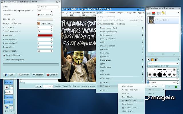 Crear/Editar Logo con GiMP FX-Foundry Linux29