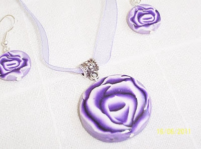 Provocarea Nr.16 ( Polymer Clay)- Cane Roses and wire 012