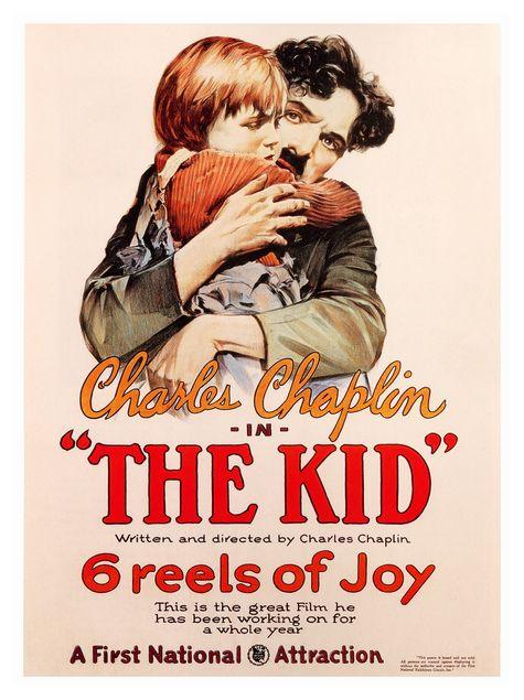 Charlie Chaplin AP1443-the-kid-charlie-chaplin-silent-movie-poster-1921