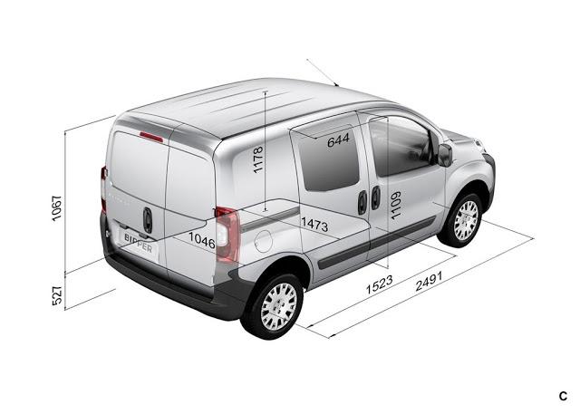 Peugeot Bipper Furgón 1.4 llega a Uruguay Peugeot-bipper-furgon-dimensiones-1