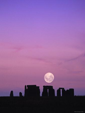 2020 March Worm Full Moon Over Stonehenge  UK02288