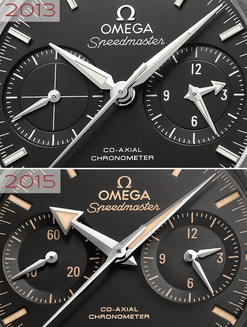 Omega Speedmaster 57 - Edition 2015 Omega-Speedmaster-57-dialcomparison